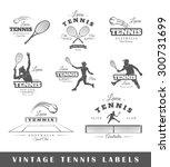 set of tennis labels. elements... | Shutterstock .eps vector #300731699