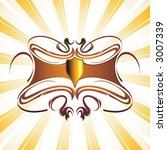 tribal decoration with shield...   Shutterstock .eps vector #3007339