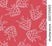 hand drawn raspberry vector...   Shutterstock .eps vector #300735005