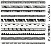 old greek border designs | Shutterstock .eps vector #300736151