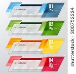 infographic banner. horizontal...   Shutterstock .eps vector #300752234