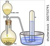 preparation of hydrogen | Shutterstock .eps vector #300753791