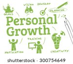 personal growth. chart with... | Shutterstock .eps vector #300754649