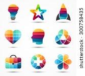 color logo template. modern... | Shutterstock .eps vector #300758435