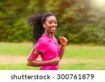 African American Woman Runner...