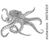 octopus illustration    octopus ...   Shutterstock .eps vector #300763319