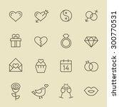 love icon set | Shutterstock .eps vector #300770531