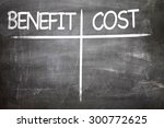 Small photo of Benefit Cost written on a chalkboard