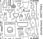 vector doodle pattern of... | Shutterstock .eps vector #300775061