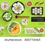 food illustration   vietnamese... | Shutterstock .eps vector #300776465