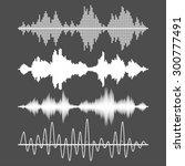 set of vector sound waves | Shutterstock .eps vector #300777491