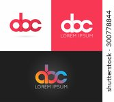 letter a b c logo alphabet... | Shutterstock .eps vector #300778844