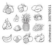 vector set of different hand... | Shutterstock .eps vector #300783011