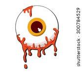 halloween orange color eyeball... | Shutterstock .eps vector #300784529