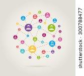 people link in social network | Shutterstock .eps vector #300788477