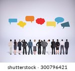 business team against grey... | Shutterstock . vector #300796421