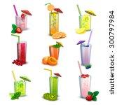 best summer long glasses fresh...   Shutterstock .eps vector #300797984