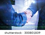 business people shaking hands...   Shutterstock . vector #300801839