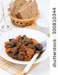 stew with beef and vegetables... | Shutterstock . vector #300810344