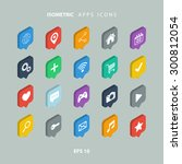 set of isometric apps icons. | Shutterstock .eps vector #300812054