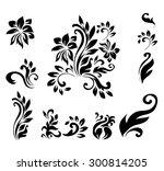 decorative victorian style... | Shutterstock .eps vector #300814205