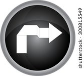 arrow sign.  icon