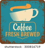 banner with coffee cup in retro ... | Shutterstock .eps vector #300816719