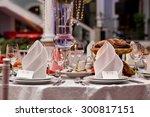 restourant's table prepared for ... | Shutterstock . vector #300817151