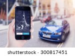 uber application startup page... | Shutterstock . vector #300817451