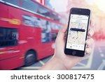 car search through the uber app ... | Shutterstock . vector #300817475