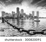Stock photo panoramic view of boston in massachusetts usa showcasing its mix of modern and historic 300820091
