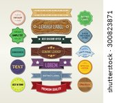 vintage elements set | Shutterstock .eps vector #300823871