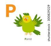 Letter P Parrot Zoo Alphabet....