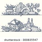 still life with various... | Shutterstock .eps vector #300835547