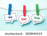 we can help bubble with clip... | Shutterstock . vector #300840419
