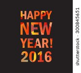 Happy New Year 2016 Lettering...