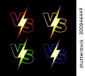 versus vector icons. vs letters ... | Shutterstock .eps vector #300846449