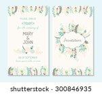 wedding invitation  thank you... | Shutterstock .eps vector #300846935