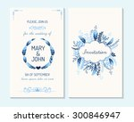 wedding invitation  thank you... | Shutterstock .eps vector #300846947