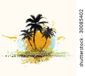 tropical background | Shutterstock .eps vector #30085402