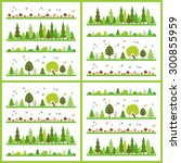 composition of green wood on...   Shutterstock .eps vector #300855959