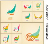 logo element and abstract web... | Shutterstock .eps vector #300856049