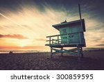 Venice Beach  Sunset. Lifeguar...