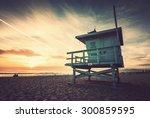 Venice Beach  Sunset. Lifeguar...