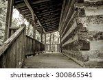 Log Cabin. Vintage Style Shot...