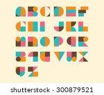 geometrical font set | Shutterstock .eps vector #300879521