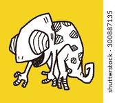 chameleon doodle | Shutterstock .eps vector #300887135