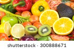 nutritious fruit and vegetables ... | Shutterstock . vector #300888671