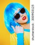 bright glamorous girl in vivid... | Shutterstock . vector #300903125