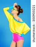 expressive fashion model posing ... | Shutterstock . vector #300903221